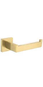 brushed gold toilet paper holder
