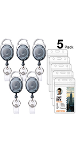 5-colors-Oval-ID-Badge Holders