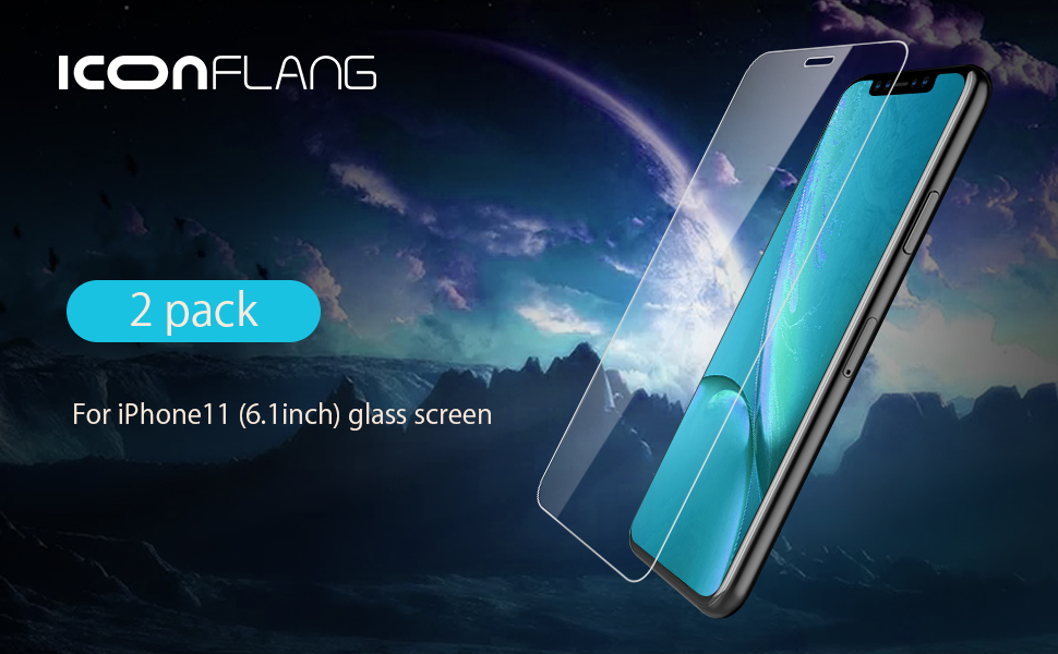ICONFLANG—— for iPhone 11 Screen Protector,for iPhone 11 Tempered Glass-6.1""