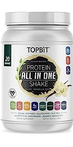 Plant based protein vanilla topbit vegan sugar free