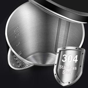 100% Stainless Steel Interior