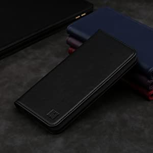Google Pixel 3A'Classic Series' real leather wallet case cover available in Black