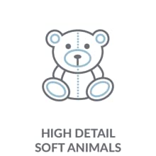 High Detail Plush Animals