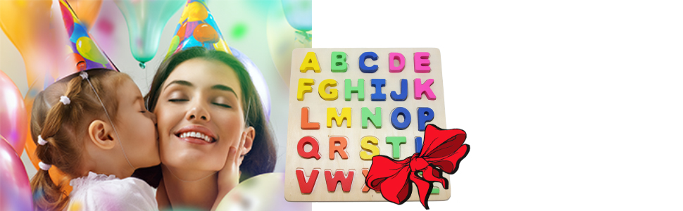 alphabet puzzle birthday gift present for kids party fun game