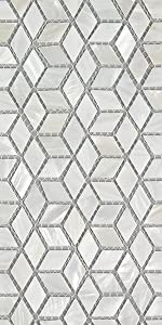 Soulscrafts Pure White Oyster Mother of Pearl Square Shell Mosaic for Kitchen Backsplashes-14