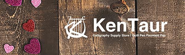 Kentaur calligraphy supply fountain pen quill dip feather ink cartridge bottle