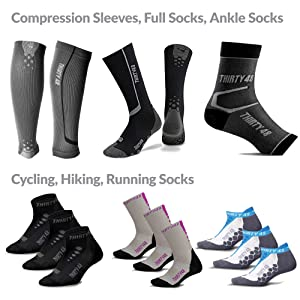 Cycling, Hiking, Running Socks