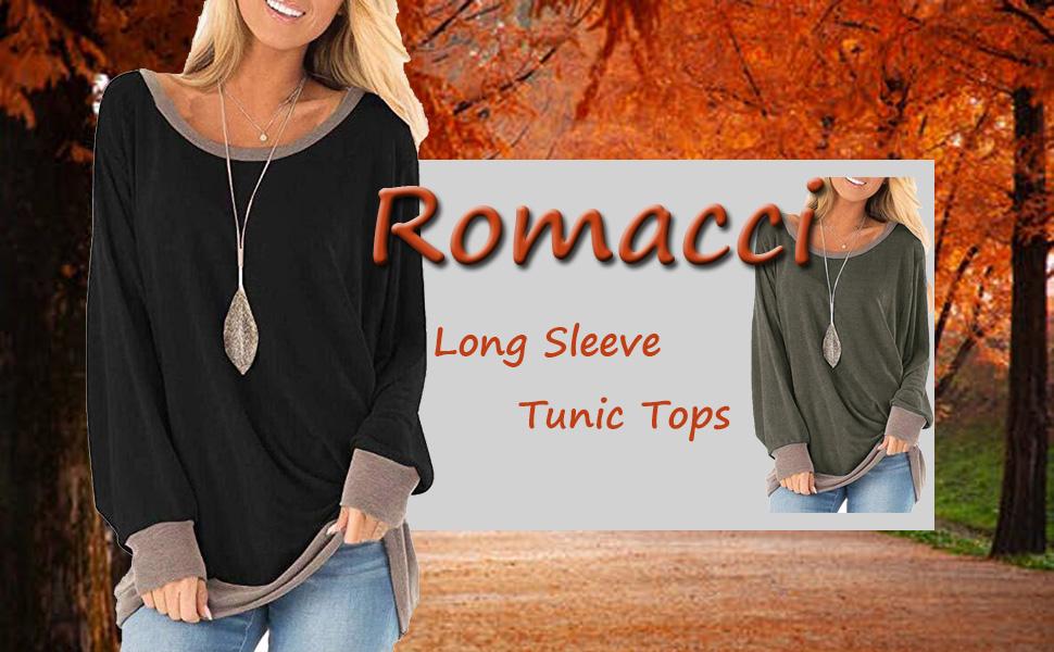 women long sleeve tunic tops