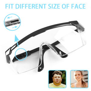 adjustable protective glasses