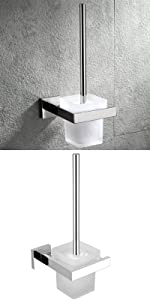 toilet brush with holder wall mount