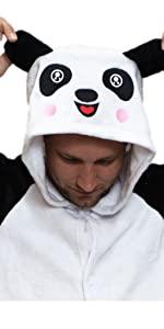 panda onesie pajamas