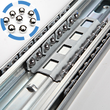 Double row of solid steel balls heavy duty drawer slides