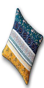 real patchwork floral garden boho bohemian hippie stripes accent throw pillow euro cushion covers