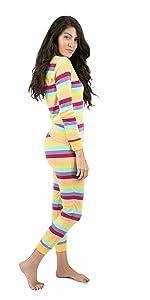 Leveret, girls pajamas, striped pajamas, cotton pajamas, matching pajamas
