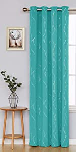 blackout curtains geometric grommet 84 inches inch length panels window drapes