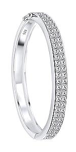 ladies cz bangle bracelet