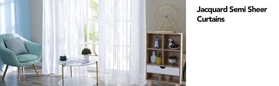 semi sheer curtains for dining room