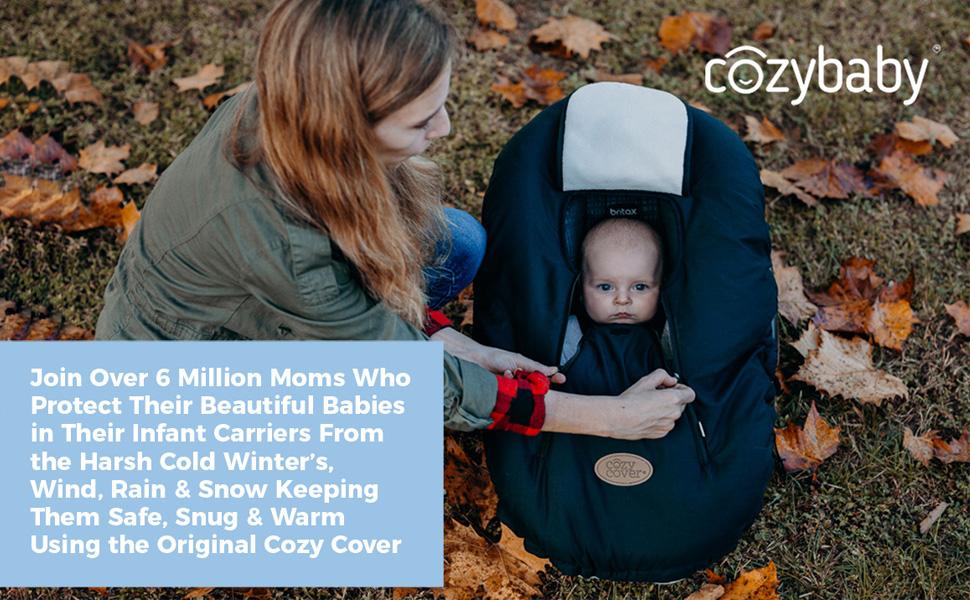 Cozy Cover Infant Carrier Cover, Original Cozy Cover, Infant Carrier Cover, snug and warm carrier