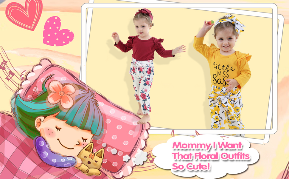 Baby Girl Floral Outfits