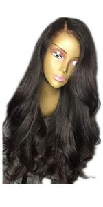 Natural Color Wavy Wig