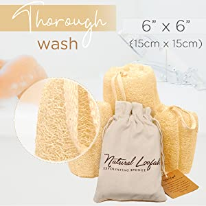raw accessories, raw one for women, body sponges for shower, lofa , lily pads, natural sponges