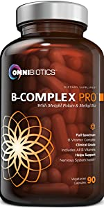 B Complex 90 Capsules Supplement OmniBiotitcs