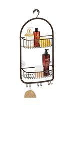 KD- Shower Caddy Metal Bathroom Tub/Shower Caddy, Hanging Storage