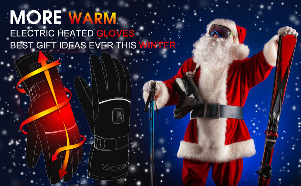 heated gloves men women heat mittens cycling hand warmer