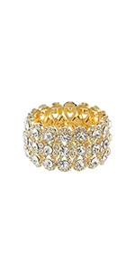 Metme 1920s Flapper Crystal Rhinestone Bracelet