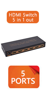 hdmi switch 5 in 1 out