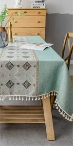 Embroidery Tassel Tablecloth