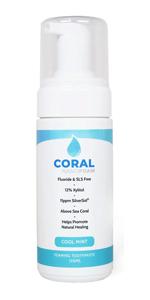 Coral White Nano Silver Foaming Toothpaste