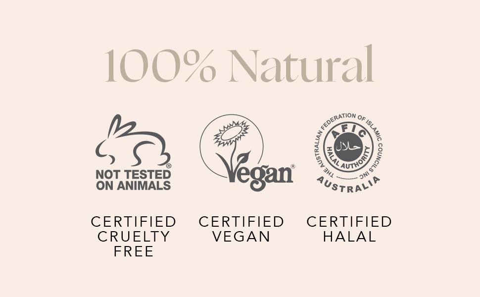 INIKA Organic Long Lash Mascara Certifications