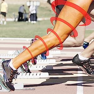 compression recovery leg sleeve full length men women unisex