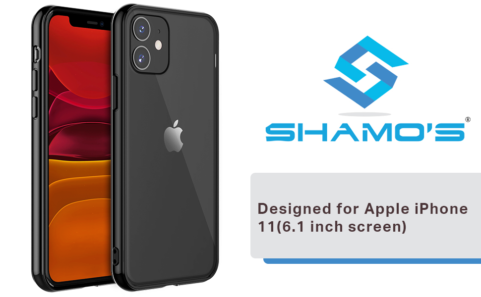 Case Shock Absorption Silicone Bumpers Anti-Scratch Transparent iPhone 11 inch Black Hard Plastic
