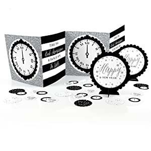 New Year's Eve - Silver - New Years Eve Party Centerpiece & Table Decoration Kit
