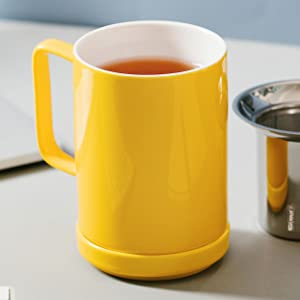 tea cup with infuser filter mug