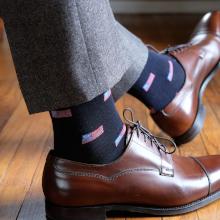 Linked Toe Dress Socks for Men