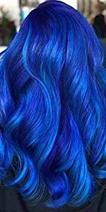 u tip hair extensions blue hair exntensions