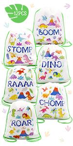 Dinosaur Drawstring Backpacks