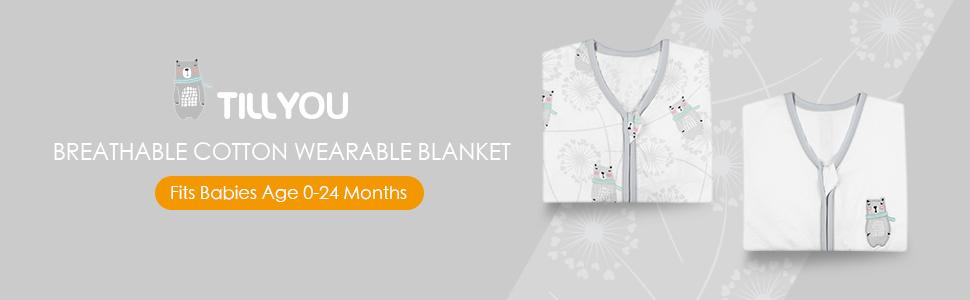 cotton sleep sack baby wearable blanket