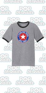 Superhero Movie Comic Book Costume I Love You 3000 Graphic Tee Ringer T-Shirt