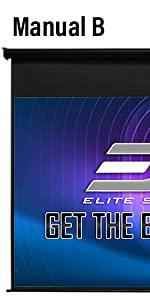 elite screen manual B SRM PRO tab tension series