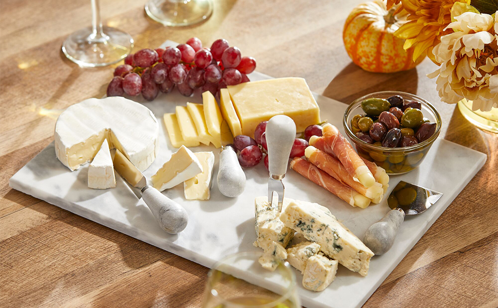 marble slate acrylic glass bamboo serving tray pastry board cutting butler cheese meet buffet fruit