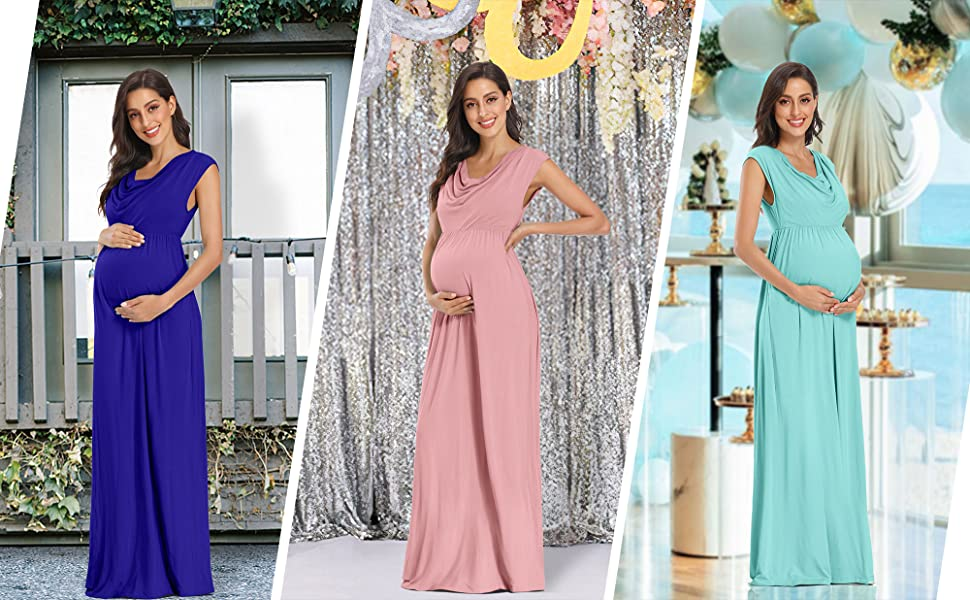 Rheane Sparkly Maternity Dress for Baby Shower Photography