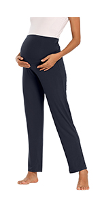 Fitglam Women's Maternity Pants for Lounge/Yoga/Workout