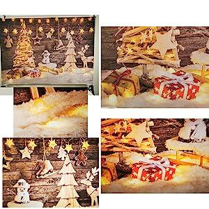 Christmas Eve puppet presents snow lights