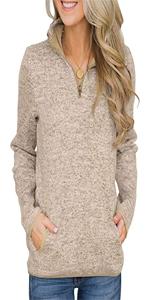 Women Quarter Zipper Shirt