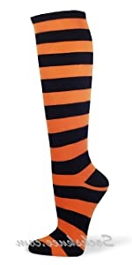 COUVER Halloween Costume Cosplay Striped Knee highs socks [Model #: KSTR01]