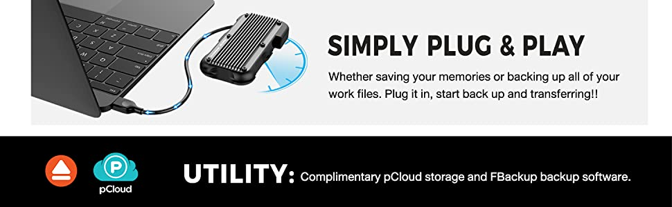 portable ssd plug and play save memory back up files storage external ssd